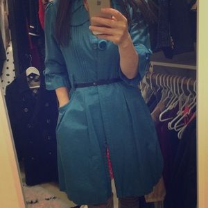 Cute Blue Trench